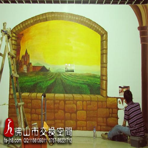 大沥农村幼儿园手绘画装饰