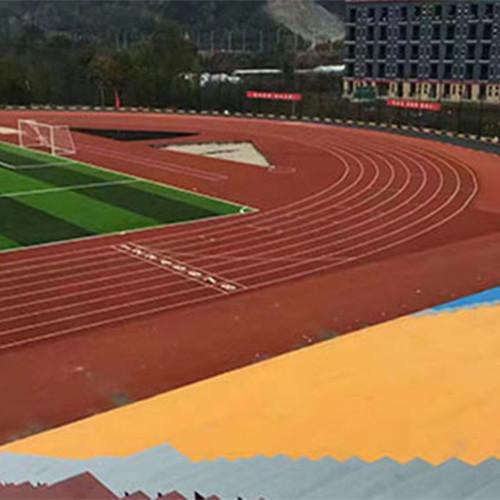 體育場塑膠跑道施工公司認準國奧體育 享受完美的運動品質