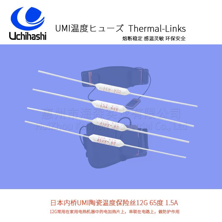 适用医疗仪器65度温度保险丝日本UMI内桥12G
