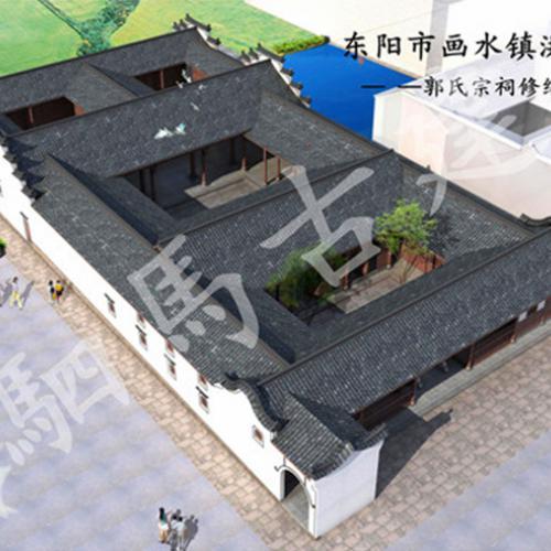 中式建筑设计模型铸造辉煌_驷马古境经得起考验